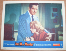 Dial M for Murder, Original Lobby Card, Ray Milland, Grace Kelly, '54